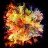 Современный красочный взрыв выплеска краски стоковое изображение rf