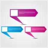 Современный красочный шаблон дизайна Стоковая Фотография