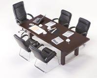 Современный круглый стол Стоковое Изображение