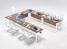 Современный круглый стол Стоковые Фотографии RF