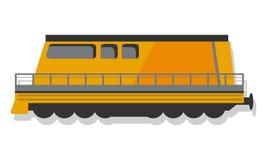 Современный локомотивный значок, стиль мультфильма иллюстрация штока