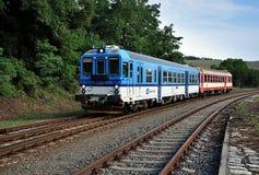 Современный локомотив в дне Стоковая Фотография RF