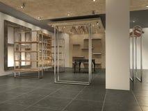 Современный магазин внутренний опорожняет, Стоковые Фотографии RF