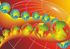современный мир глобусов Стоковое фото RF