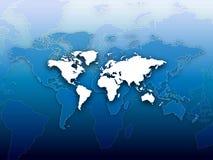 современный мир карты предпосылки голубой Стоковая Фотография RF