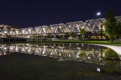 Современный мост в Мадриде Стоковые Фотографии RF