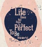 Современный мотивационный плакат с цитатой Стоковая Фотография