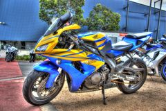 Современный мотоцикл Honda японца стоковая фотография rf