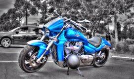 Современный мотоцикл Suzuki японца стоковые фотографии rf