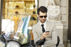 Современный молодой портрет бизнесмена Стоковые Изображения RF