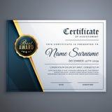 Современный наградной шаблон дизайна награды сертификата иллюстрация штока