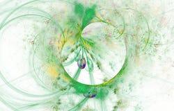 Современный накаляя дизайн формы Энергичные светлые следы и влияния бесплатная иллюстрация