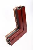 Современный образец алюминиевого окна Стоковые Изображения