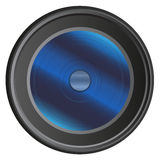 Современный объектив фотоаппарата изолированный на белой предпосылке Стоковая Фотография RF