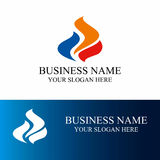 Современный логотип огня Стоковое Изображение