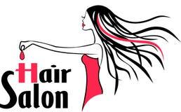Современный логотип парикмахерской Стоковые Изображения RF