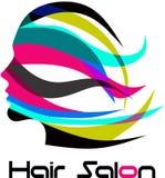 Современный логотип парикмахерской Стоковое Фото