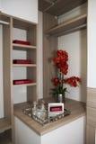 Современный домашний шкаф стоковое изображение