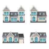 Современный дом семьи изолированный на белой предпосылке бесплатная иллюстрация