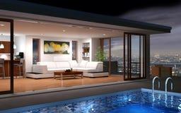 Современный дом бесплатная иллюстрация