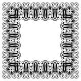 Современный орнамент стиля в квадратной форме Стоковое фото RF