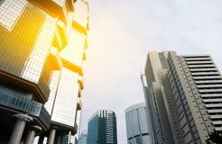 Современный офис небоскреба, корпоративное здание в городе Стоковые Фото