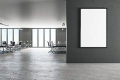 Современный офис с афишей бесплатная иллюстрация