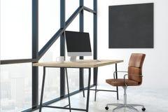 Современный офис с пустым знаменем Стоковое Фото