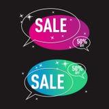 Современный пакет вектора коммерции продажи e знамени бесплатная иллюстрация