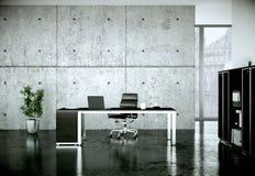 Современный перевод дизайна интерьера 3d домашнего офиса иллюстрация штока