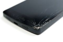 Современный передвижной smartphone с сломленным экраном Стоковые Фото