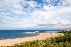 Современный пляж в Constanta, Румынии Стоковые Фотографии RF