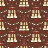 Современный подарок рождественской елки пакетирует свечи иллюстрация вектора