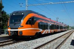 Современный поезд Стоковое Изображение RF