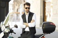 Современный портрет бизнесмена Стоковые Фотографии RF