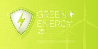 Современный плакат на теме природной энергии иллюстрация вектора