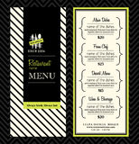 Современный план шаблона дизайна меню ресторана Стоковое Фото