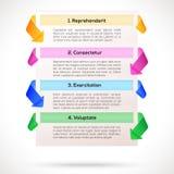 Современный план. Infographic, шаблон представления Стоковое Изображение RF