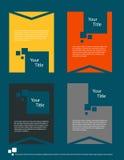 Современный плоский дизайн брошюры Стоковая Фотография