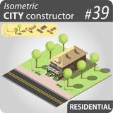 Современный равновеликий дом Стоковое Изображение