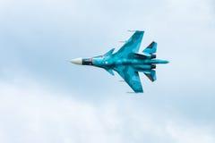 Современный русский боец Sukhoi Su-34 забастовки на MAKS-2017 Стоковое Фото