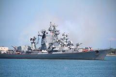 Современный русский военный корабль Стоковое Фото