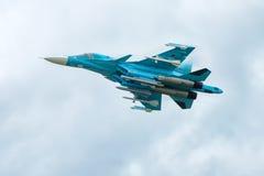 Современный русский истребитель-бомбардировщик Sukhoi Su-34 Стоковое Фото