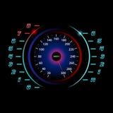 Современный спидометр автомобиля Предпосылка гонок Стоковые Фотографии RF