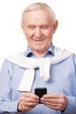 Современный старший человек Стоковые Изображения RF