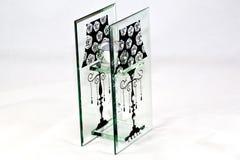 Современный стеклянный орнамент с tealight Стоковые Изображения RF