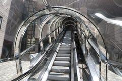 Современный стеклянный эскалатор Стоковая Фотография RF