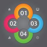 Современный стиль origami круга infographics дела  Стоковое Фото