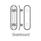 Современный стол скейтборда Стоковые Фото