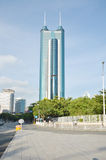 Современный строя финансовый центр Luohu стоковые фотографии rf